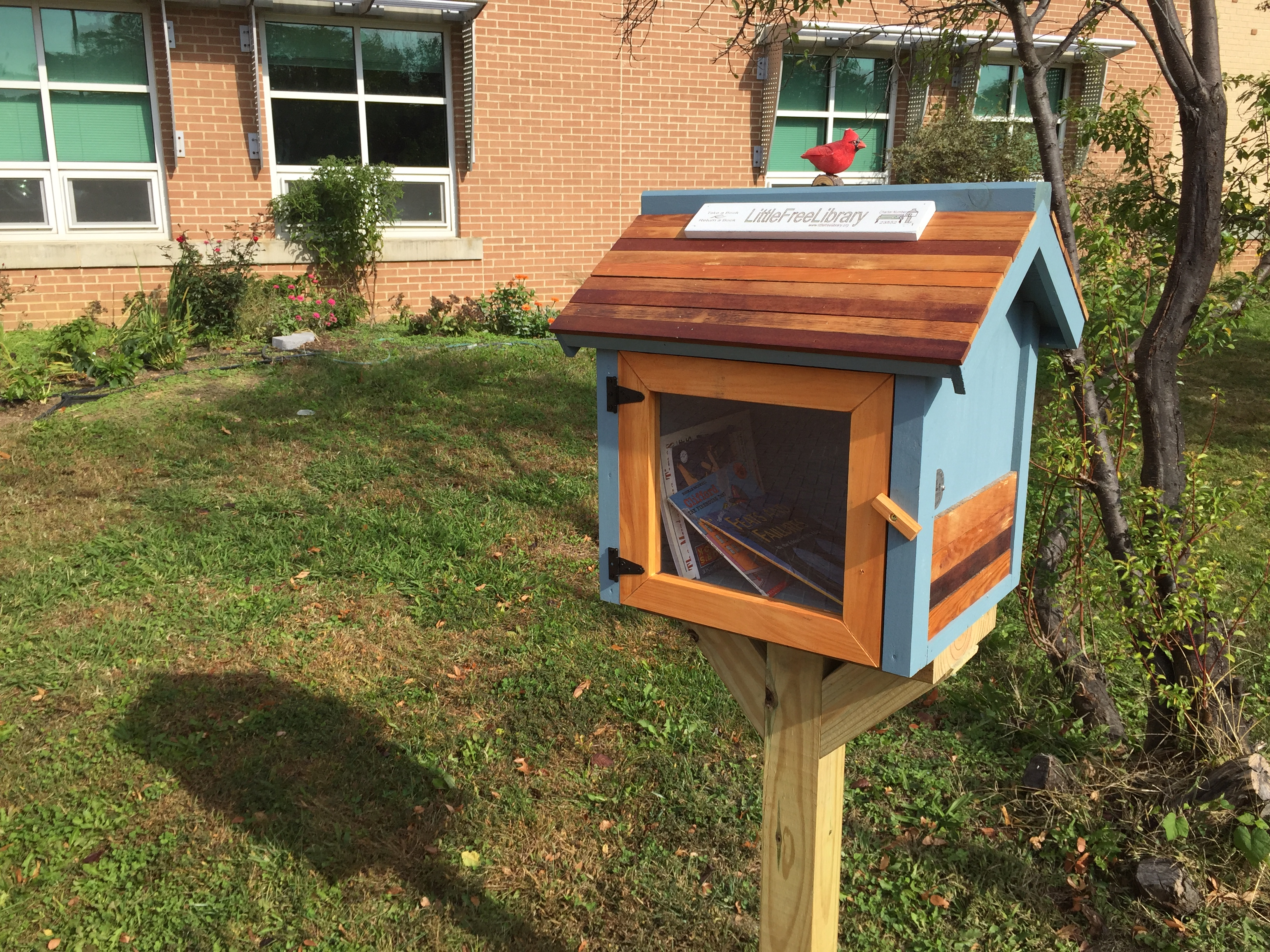 Check out our Little Free Library at Carlin Springs! Take a Book. Return a book.