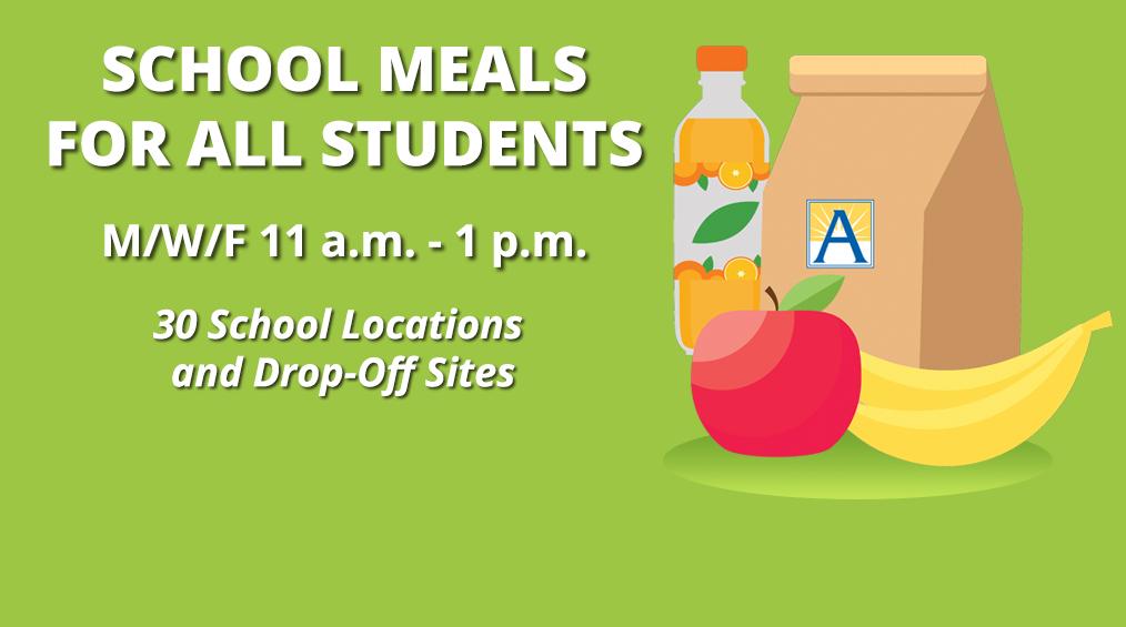 Bữa ăn miễn phí cho học sinh trong thời gian đóng cửa / Comida gratis para estudiantes mientras las escuelas están cerradas