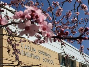 Carlin Springs building and flowers