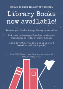 Library flyer in English