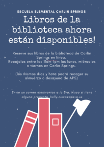 Library Flyer in Spanish