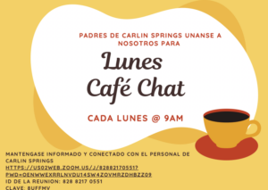 Coffee Chat Flyer in Spanish