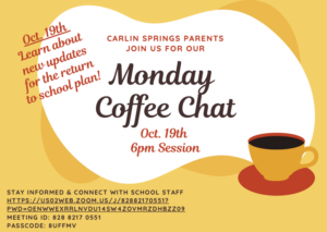 Oct. 19 Coffee Chat Flyer