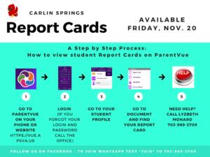 Cómo ver las boletas de calificaciones en ParentVUE Inglés