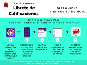 Cómo ver las boletas de calificaciones en ParentVUE Español