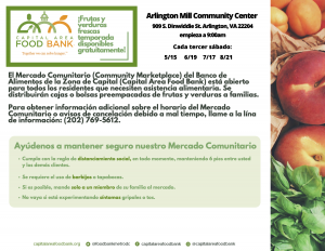 Community Marketplace Flyer Spanish