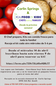 Real Food For Kids Flyer Spanish
