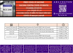 Vax Site Flyer_Multingual_June 21 to 27